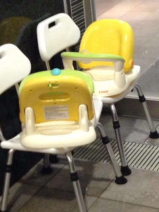 モノリスタワーすみの湯子供用椅子