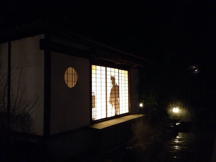 江戸情話夜市 影絵ショー
