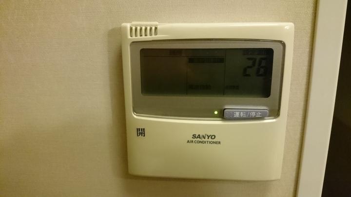 アパホテル高崎駅前の空調操作パネル