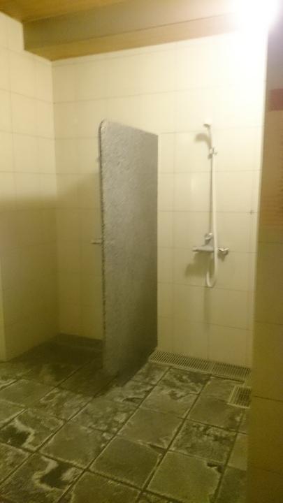 アパホテル高崎駅前の温泉大浴場のシャワー