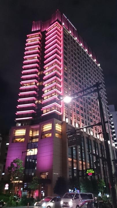 ライトアップされたザ・ペニンシュラ東京