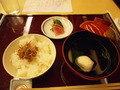 グランドプリンスホテル京都の日本料理「宝ケ池」夕食のご飯