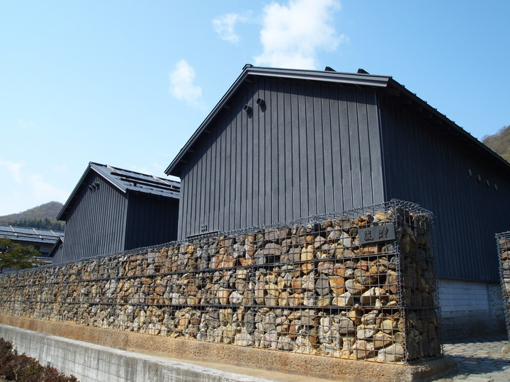 朝里川温泉小樽旅亭藏群の外観