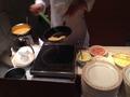 朝食バイキング オムレツコーナー