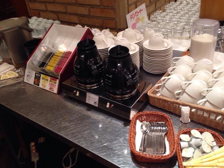 朝食バイキング コーヒーコーナー