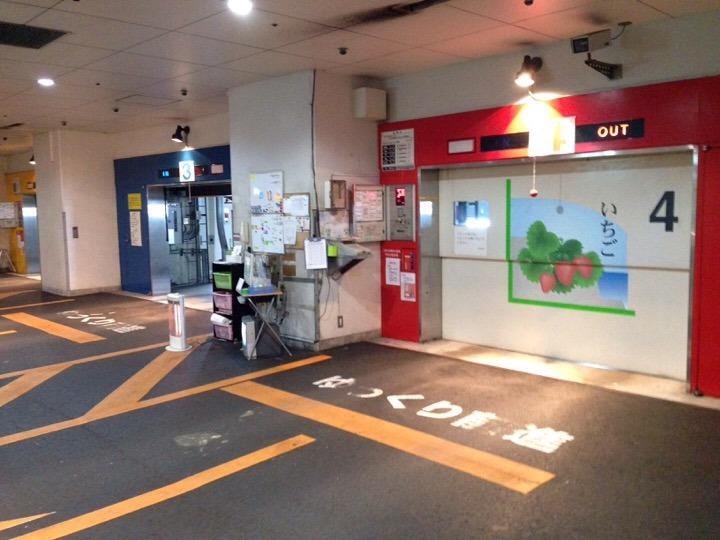 地下立体駐車場