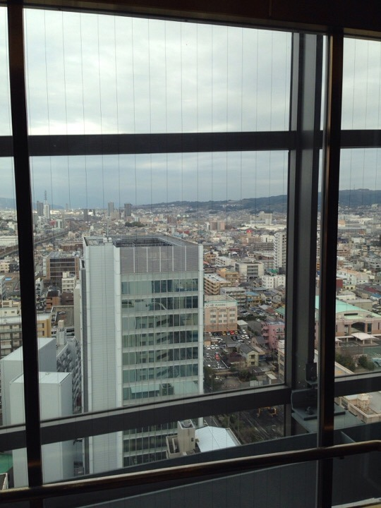 ホテル東側の眺め