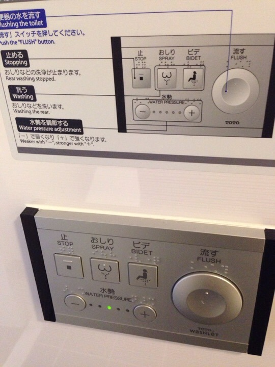 トイレ操作スイッチ