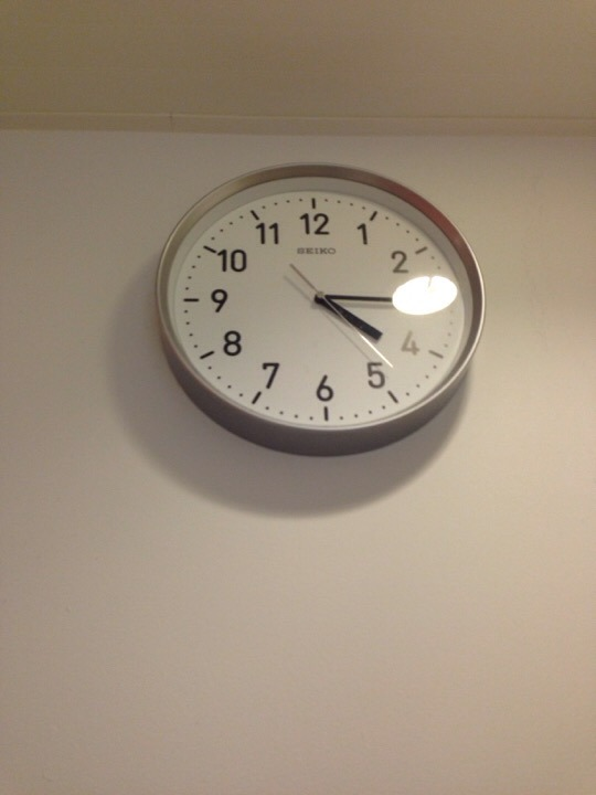 ウィルポート 脱衣所時計