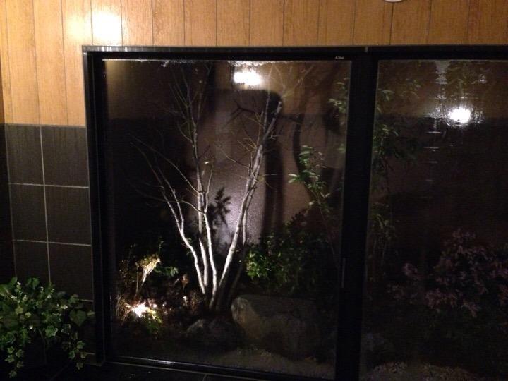 浴室から見える中庭