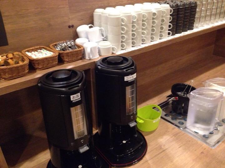 朝食バイキングのコーヒー