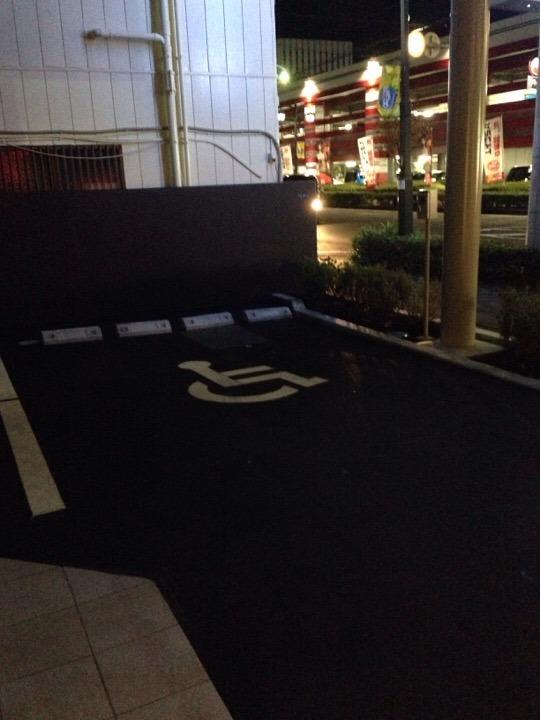 ホテル前の身障者駐車場