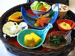 季節感あふれるお料理は見た目もお味も素晴らしい。