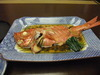 夕食写真(金目鯛の煮付け)