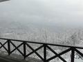 ロビーから見た雪景色