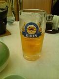 夕食ビール