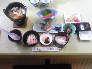 光山荘2日目朝食