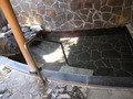 半露天部分の浴槽