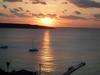 ホテルのバルコニーから見た夕日