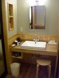 貸切風呂の脱衣所洗面台