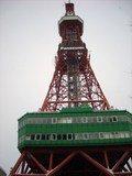 テレビ塔の下から見上げると
