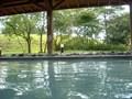 露天風呂から見える庭園