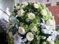 ウェディングスペースの花のアップ