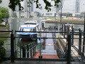 ホテル1階レストラン側からみた水上バス乗り場
