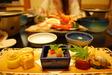 岩井温泉・明石家での夕食