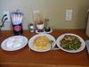 毎日手作りの沖縄料理の朝食が出ます。