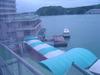 雨に濡れず船からホテルへ【部屋からの眺め】
