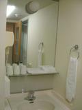 洗面所の鏡も大きい