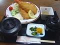 ジャンボエビフライ定食