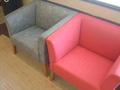 赤いソファ