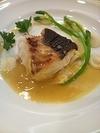 ランチの魚料理