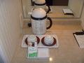 インスタントコーヒーと緑茶のティーパック
