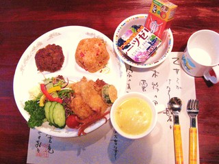 別荘 今昔庵の夕食(幼児用)