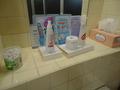 大浴場の化粧品類
