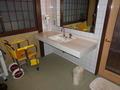 花小宿の浴室・バリアフリーのお風呂・脱衣所洗面台付近