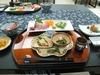 こちらは前菜です。地元のお魚やアロエ、あしたばを使った懐石料理
