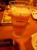 生ビールを注文!