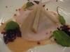 自家製鶏胸肉のスモークと和梨のラビオリ仕立て