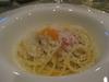 パルミジャーノレッジャーノとミモレットのスパゲッティーニ