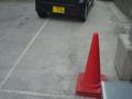 線はあるものの適当な駐車場