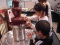 チョコレートに子供達は大喜び