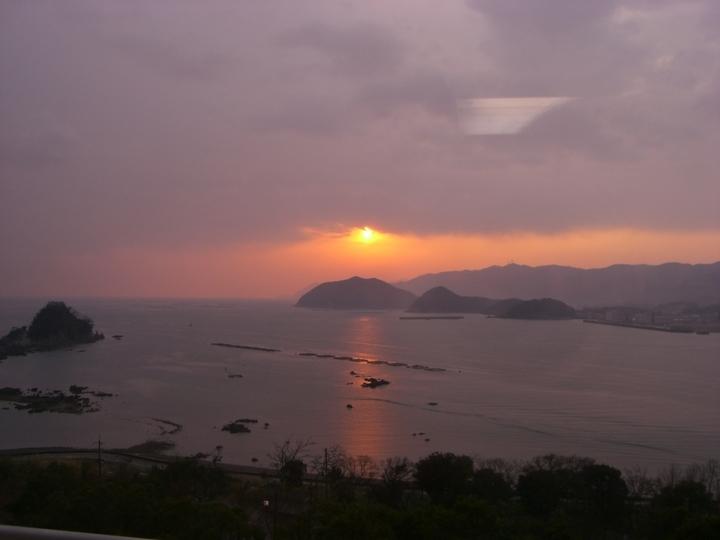 夕日の絶景が望めます。