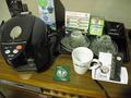 部屋のポットとお茶類