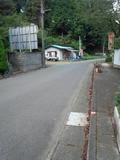 旅館から外の道路