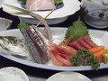 和食の「白浜膳」・お造りです