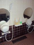 洋風露天風呂(貸切露天風呂)洗い場